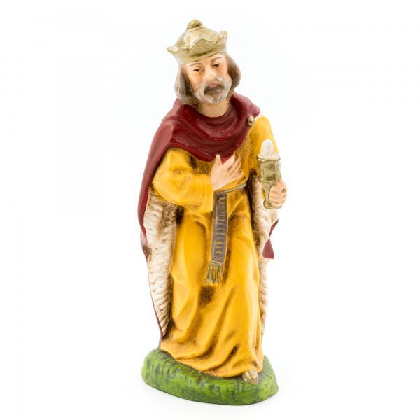 König weiß (Balthasar) mit Ansatzteilen, zu 9cm Figuren