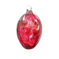 Handmade Easter egg (glass), rubin red, 10cm