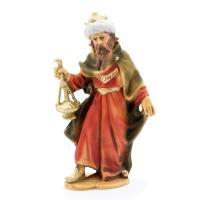 König weiß, stehend, zu 12cm Krippenfiguren (Kunststoff)