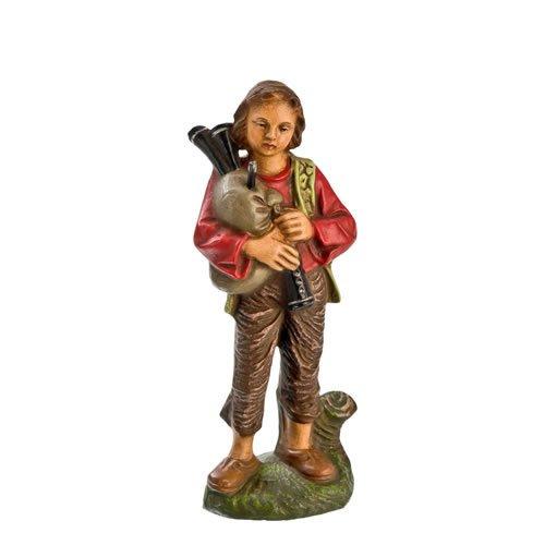 Hirte jung mit Dudelsack, zu 11cm Krippenfiguren - Original MAROLIN® - Krippenfigur für Ihre Weihnachtskrippe - Made in Germany