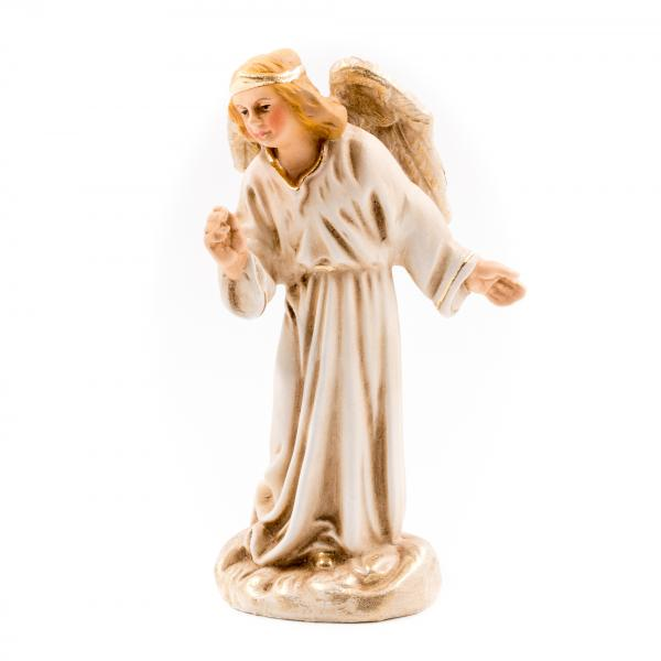 Verkündigungsengel in Antikweiß, zu 10cm Krippenfiguren - Original MAROLIN® - Engel für Ihre Weihnachtskrippe - Made in Germany