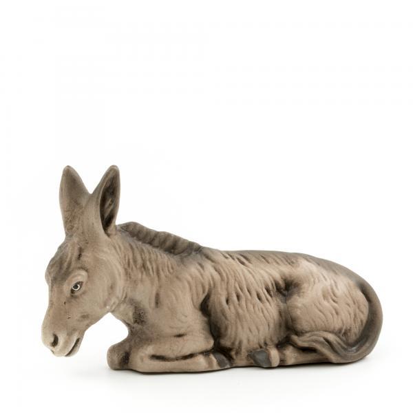 Esel liegend, zu 9 - 10cm Krippenfiguren - Original MAROLIN® - Krippenfigur für Ihre Weihnachtskrippe - Made in Germany