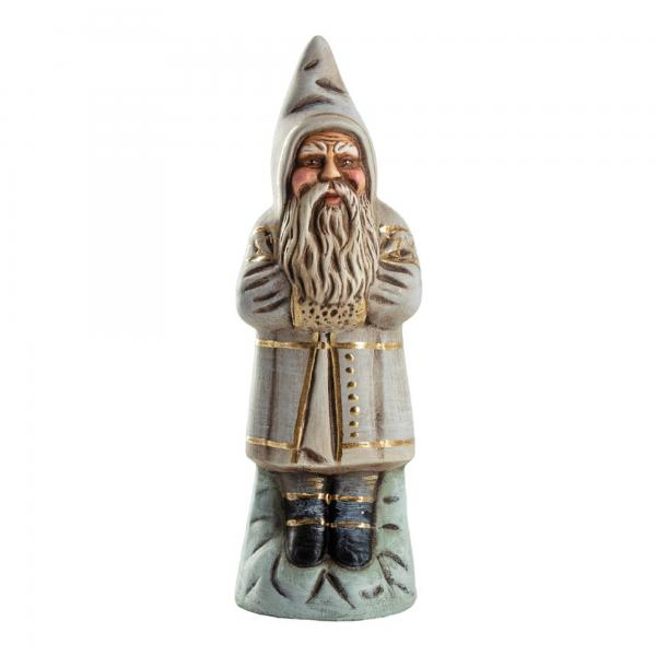 Candy Container-Santa on base, antique white