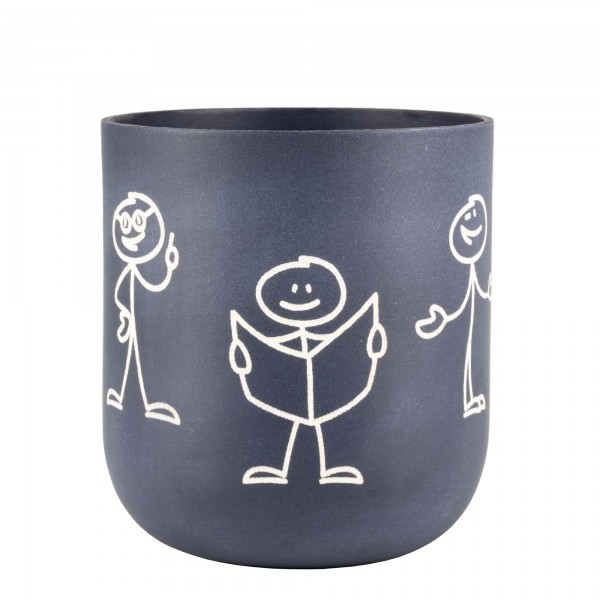 Pen cup | Pencil mug with stick figure engravement