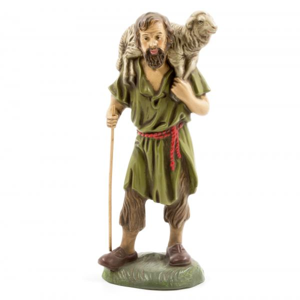Shepherd with sheep on shoulder, to 8.5 in. figures