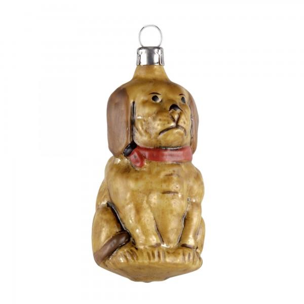"""Glas Figur """"Hund"""" patiniert"""