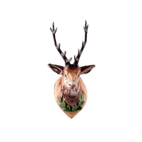 Jagdtrophäe Hirschkopf (klein) mit Geweih aus Zinn zu 9 - 10cm Figuren - Original MAROLIN® - Zubehör für Ihre Weihnachtskrippe oder Dioramen - Made in Germany