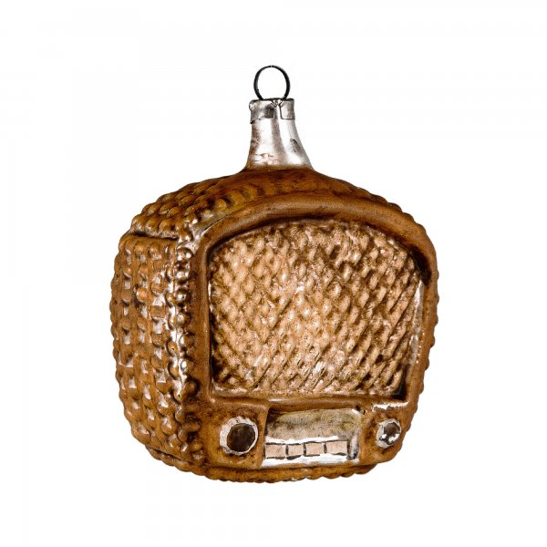 "Christbaumschmuck Ornament Glas ""Radio"""