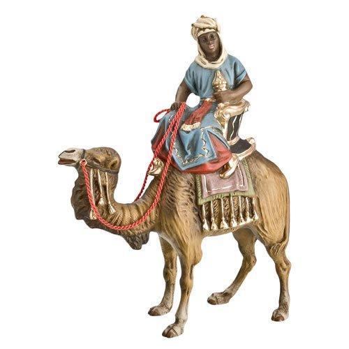 König schwarz (Caspar) zu Kamel, zu 10 - 11cm Krippenfiguren - Original MAROLIN® - Krippenfigur für Ihre Weihnachtskrippe - Made in Germany