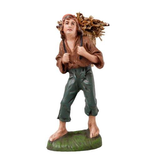 Junge mit Korb, zu 10cm Figuren - Original MAROLIN® - Figur für Ihre Weihnachtspyramide oder Weihnachtskrippe  - Made in Germany