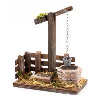 Brunnen mit Tränke für 11 - 12cm Figuren - Original MAROLIN® - Krippenzubehör für Ihre Weihnachtskrippe - Made in Germany