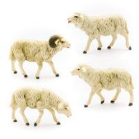 Schafgruppe, 4-teilig, zu 12cm Fig. (Kunststoff)
