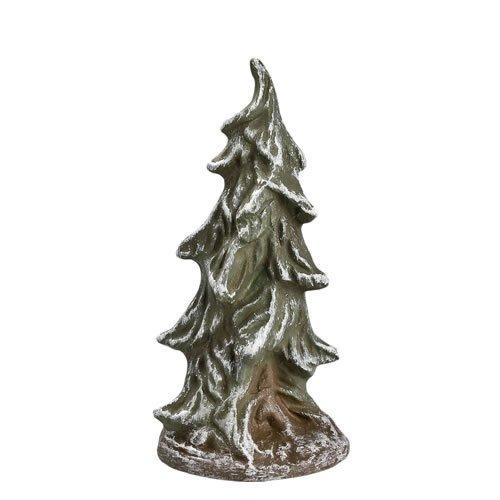 Tannenbusch schlank, verschneit, zu 9 - 11cm Figuren