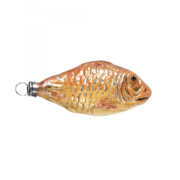 Glas Miniatur Goldfisch patiniert