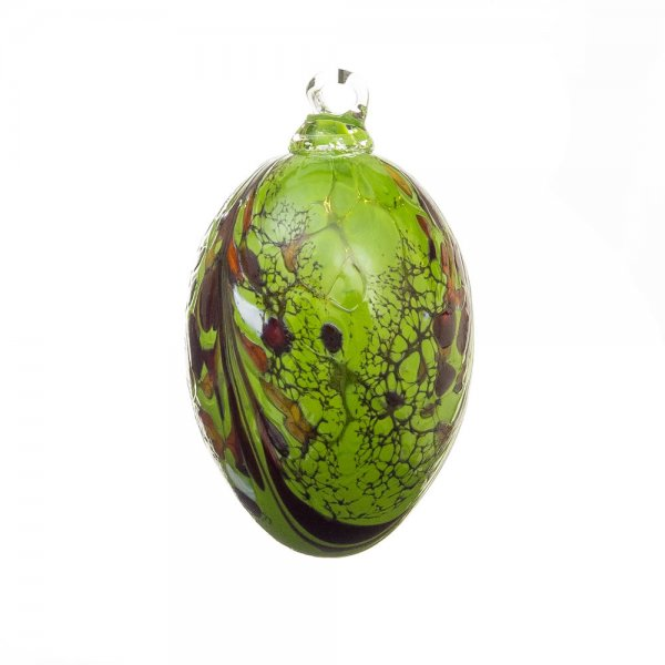 Handmade Easter egg (glass), deep green, 10cm