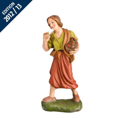 Hirtin mit Früchtekorb, zu 11cm Krippenfiguren - Original MAROLIN® - Krippenfigur für Ihre Weihnachtskrippe - Made in Germany