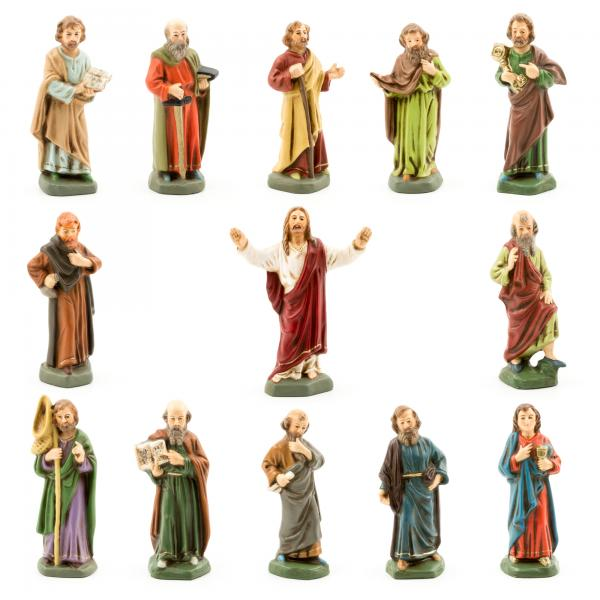 Jesus and his disciples, 13 figures, 9cm size