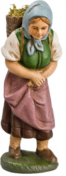Frau mit Graskorb, zu 10cm Figuren