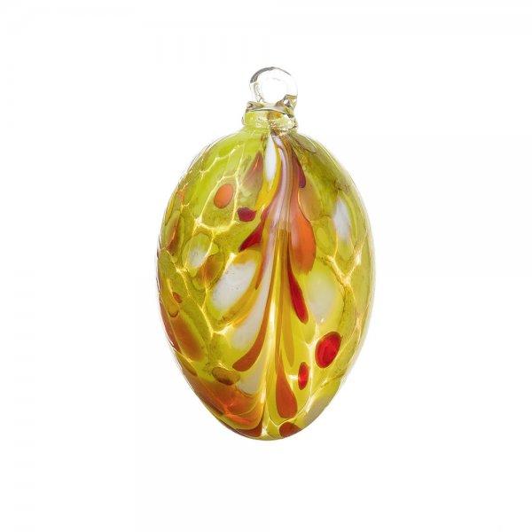 Handmade Easter egg (glass), yellow apple, 10cm