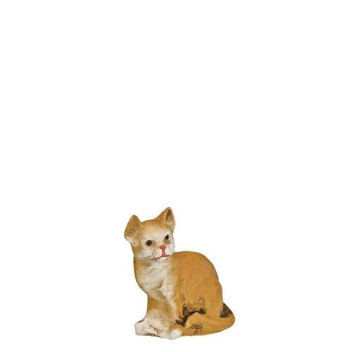 Katze sitzend, fuchs, zu 14cm Figuren - ein Artikel der Original MAROLIN® - Tiere als Dekoration für Ihre Weihnachtskrippe oder Weihnachtspyramide - Made in Germany