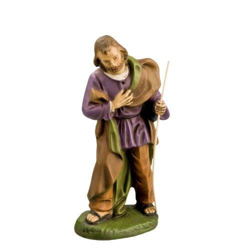Josef stehend mit Stab, zu 14 cm Krippenfiguren