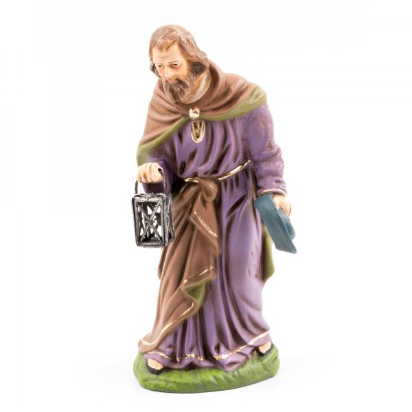 Josef stehend mit Zinn-Laterne, zu 12cm Figuren