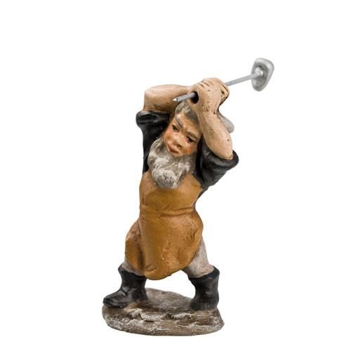 Zwerg als Bergmann mit Hammer, H=6,3cm