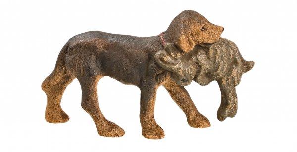 Jagdhund mit Hasen, zu 9 - 10cm Figuren passend