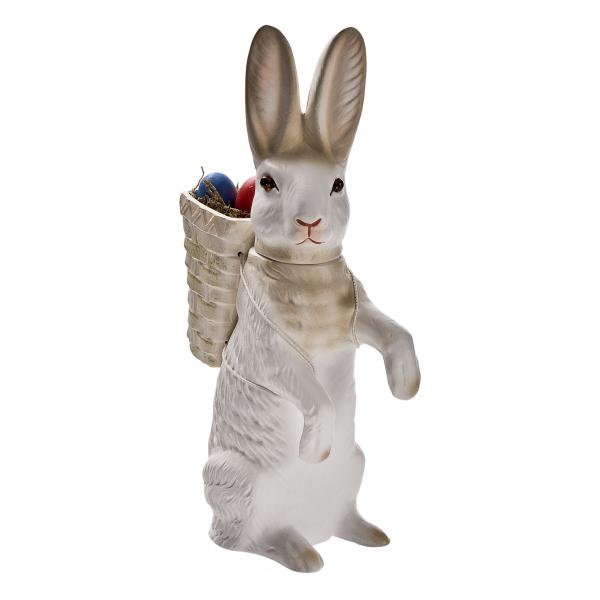 Upright Easter hare with lift-off head, white