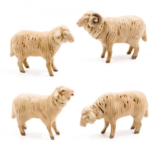 Schafgruppe, 4 Teile, zu 14cm Figuren