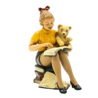 Pin-up Figur Leseratte