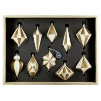 "Art Déco Edition ""Ivory - Gold"" 10 pieces, packed in decorative wooden box"