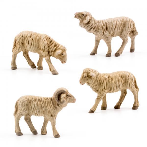 Schafgruppe, 4 Teile, zu 9 - 10cm Figuren