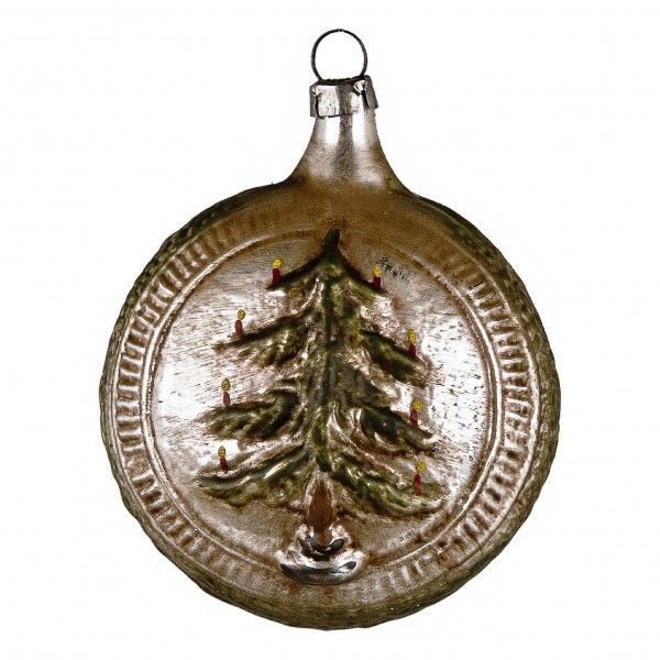 "Glass ornament ""Ball with tree and stars"""