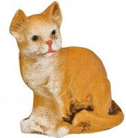 Katze sitzend, fuchs, zu 12 - 14cm Figuren
