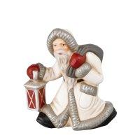 Kleiner Weihnachtsmann mit Laterne, weiß