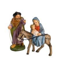 Flucht nach Ägypten, 2 Teile, zu 11cm Krippenfiguren - Original MAROLIN® - Krippenfiguren für Ihre Weihnachtskrippe - Made in Germany