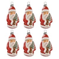 Baumbehang  *Weihnachtsmann mit Tännchen* rot
