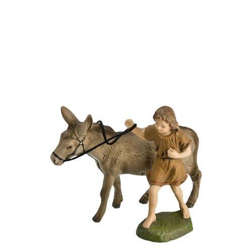 Eselführer mit Esel, 2 Teile, zu 11 - 12cm Figuren