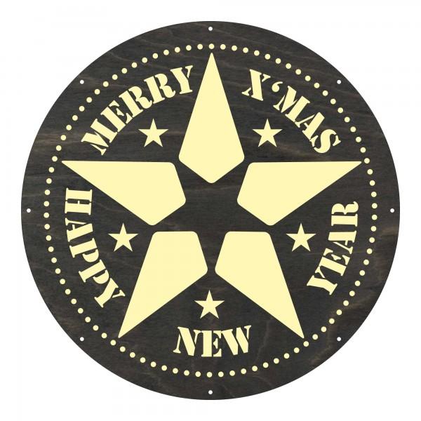 """Motivscheibe """"Merry Christmas"""""""