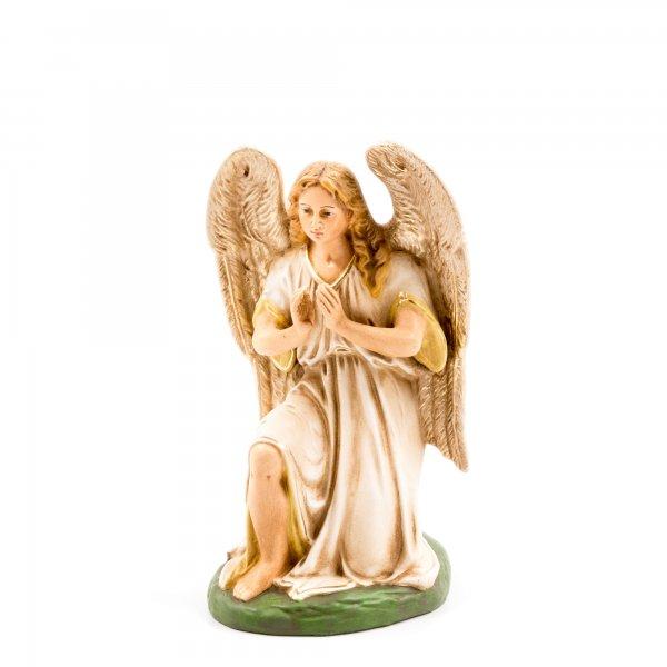 Kneeling angel, antique white, to 8.5 in. figures