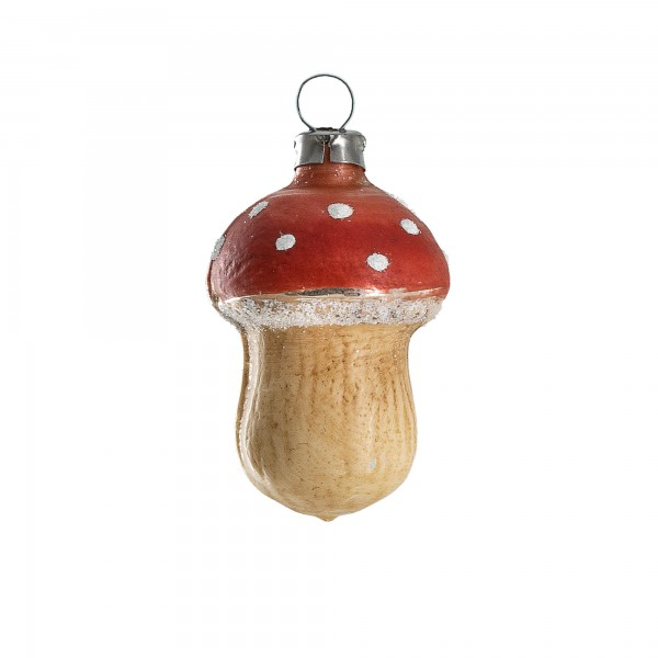 "Glass ornament ""Small fly agaric"""