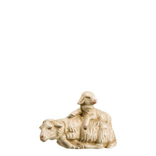 Schaf liegend mit Lamm, zu 14cm Figuren