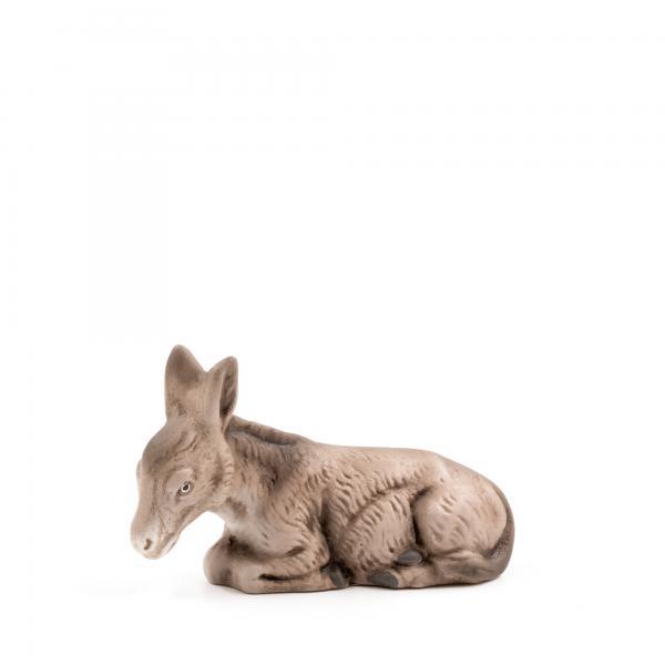 Esel liegend, zu 11cm Krippenfiguren - Original MAROLIN® - Krippenfigur für Ihre Weihnachtskrippe - Made in Germany