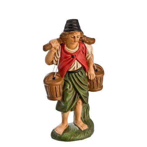 Wasserträger mit Eimern, zu 11cm Krippenfiguren - Original MAROLIN® - Krippenfigur für Ihre Weihnachtskrippe - Made in Germany