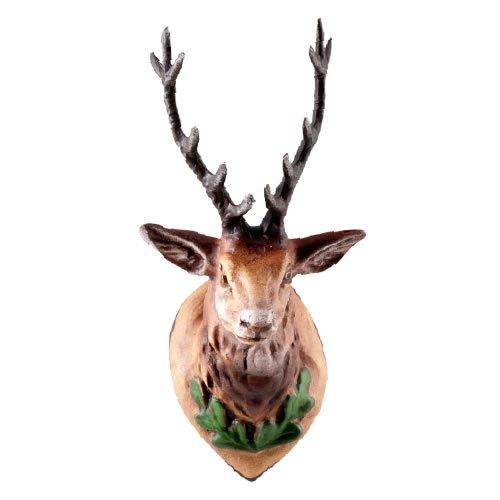 Jagdtrophäe Hirschkopf (groß) mit Geweih aus Zinn, zu 12 - 14cm Figuren - Original MAROLIN® - Zubehör für Ihre Weihnachtskrippe oder Dioramen - Made in Germany