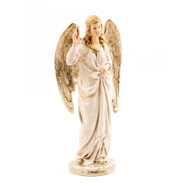 Proclaiming Angel, antique white, to 8.5 - 10.5 in. figures
