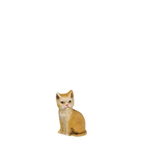 Katze sitzend, fuchs, zu 11cm Figuren - ein Artikel der Original MAROLIN® - Tiere als Dekoration für Ihre Weihnachtskrippe oder Weihnachtspyramide - Made in Germany