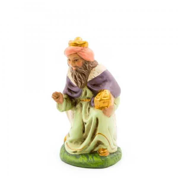 König braun (Melchior) kniend mit Ansatzteilen, zu 9cm Figuren
