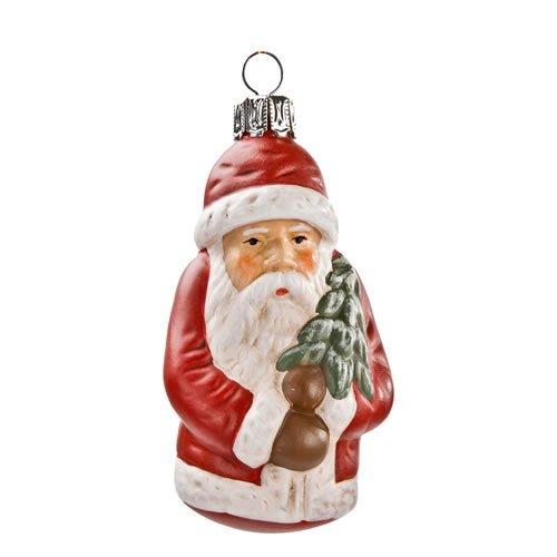 Set BAUMBEHANG *Weihnachtsmann mit Tännchen* rot, 6 Teile